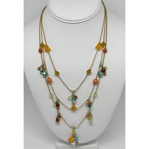 Premier Designs Multi-Strand Crystal Necklace